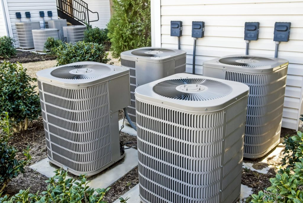 home HVAC units placed outdoor