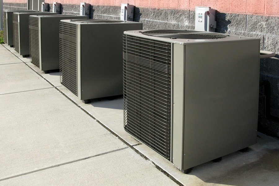 HVAC units placed outdoor